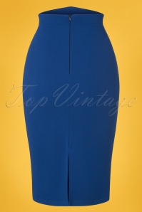 Vintage Chic 28731 Royal Blue Pencil Skirt 20190129 006W