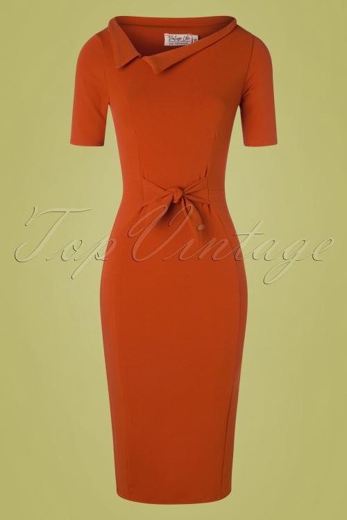 Vintage Chic 28730 Cinnamon Pencil Dress 20190129 003W
