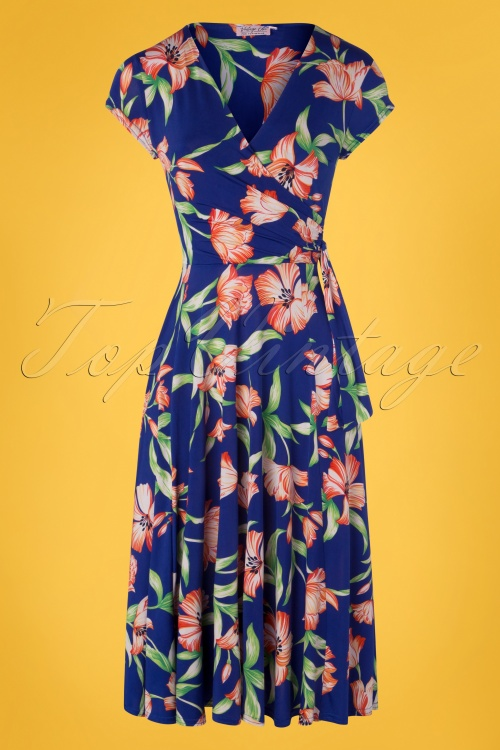 Vintage Chic 28776 50s Layla Floral Dress 20190129 002W