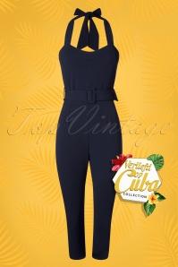 Vintage Chic 28718 Navy Scuba Jumpsuit 20190123 006W VOC