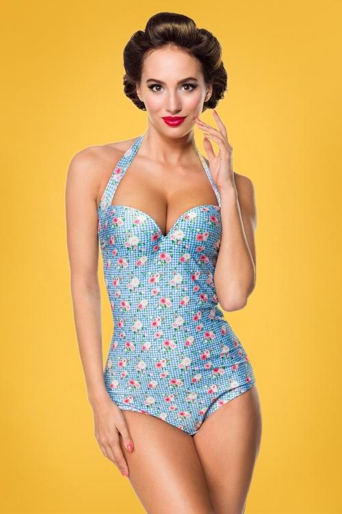 Belsira 27843 Blue Roses Floral Swimsuit 20190130 021