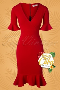 Vintage Chic for TopVintage Abbey Pencil Dress Années 50 en Rouge