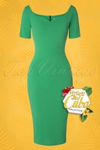 50s Guapa Pencil Dress in Emerald