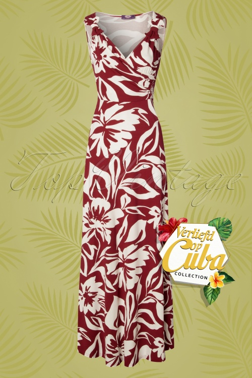 TopVintage Boutique Collection 28786 Verliefd op Cuba Palm Leaf Maxi Dress 20190122 002W VOC