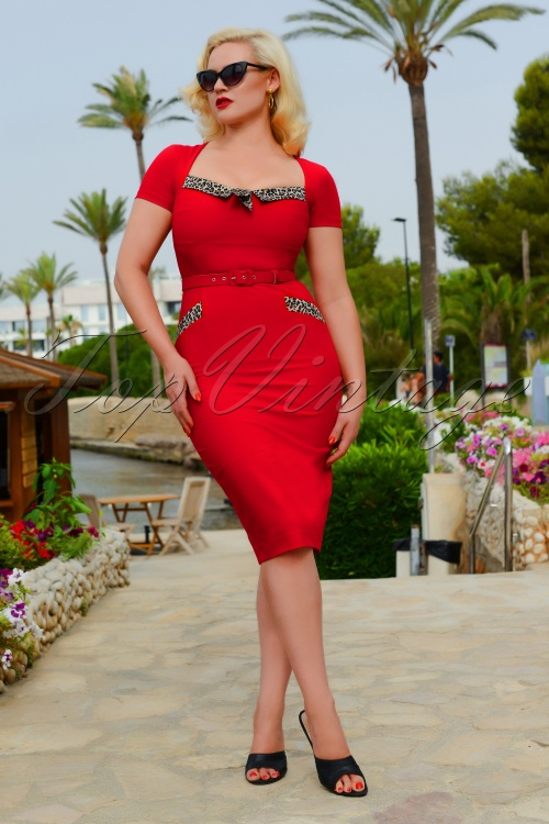 Glamour Bunny 27595 Ella Red Pencil Dress 20190104 5W