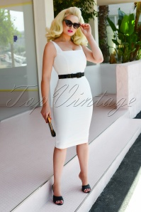 Glamour Bunny 28141 Rachel Pencil Dress White 20190107 0011W