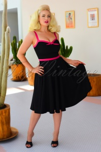 50s Rebecca Swing Dress in Black