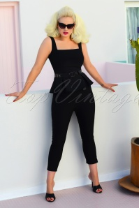 50s Donna Capri Suit Trousers in Black