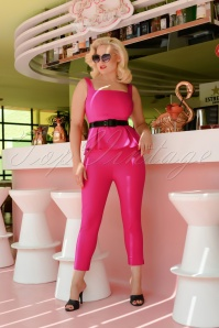 50s Donna Capri Suit Trousers in Hot Pink
