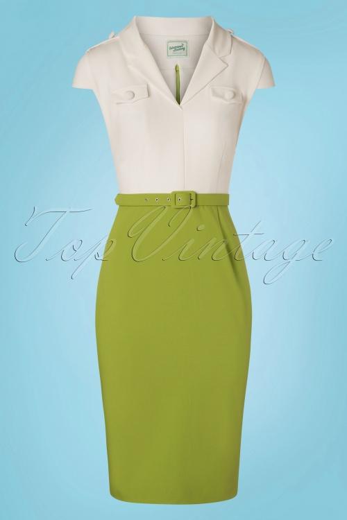 Glamour Bunny 28135 Lydia White Green Dress 20190104 0003W