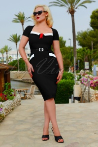 50s Ella Pencil Dress in Black