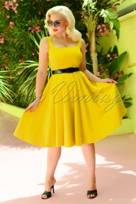 50s Rachel Swing Dress in Yellow