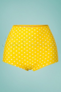 50s Polly Polkadot Bikini Pants in Yellow