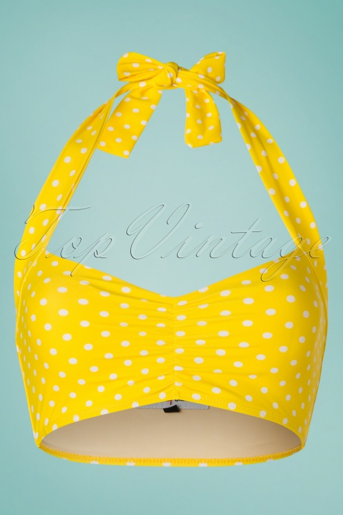 Red Dolly 28597 28602 Yellow Polkadot Bikini Top 20190129 001W