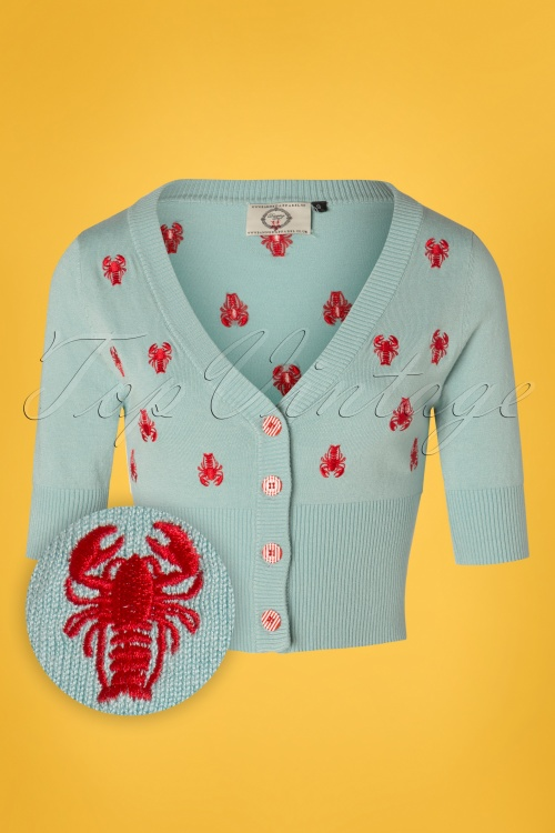 Banned 28565 Pinch Me Lobster Cardigan in Blue 20181213 002W1