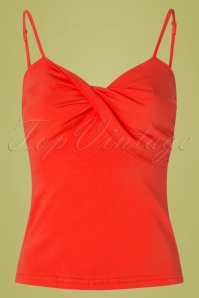 50s Wrap Front Top in Orange