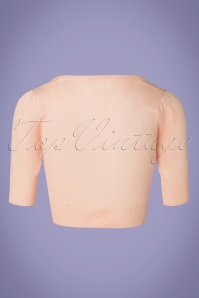 Banned 28564 50s Bobby Cardigan in Nude Pink 20181219 006W