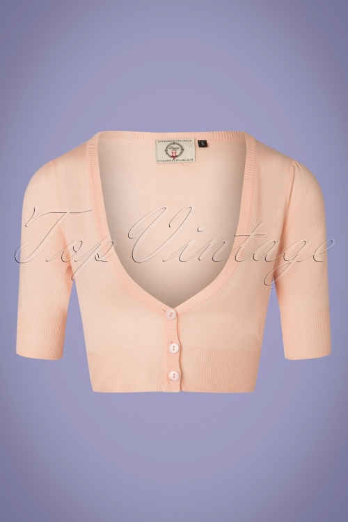 Banned 28564 50s Bobby Cardigan in Nude Pink 20181219 002W
