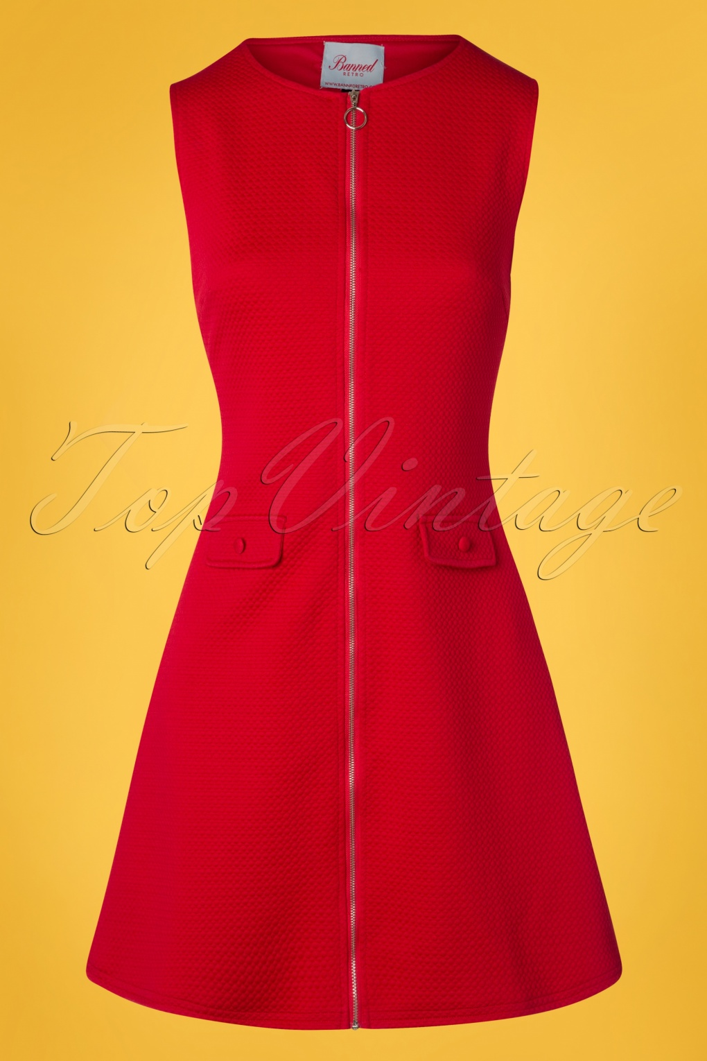 1960s Style Dresses, Clothing, Shoes UK 60s Groovy Gal Dress in Lipstick Red £42.13 AT vintagedancer.com