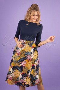 Banned 28532 Paradise Swing Skirt Mustard 20181219 0110W