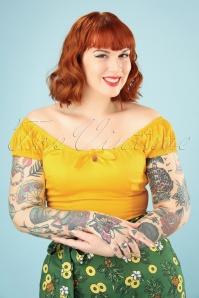 Collectif Clothing 27374 Lorena Plain Top In Yellow 20180813 005W