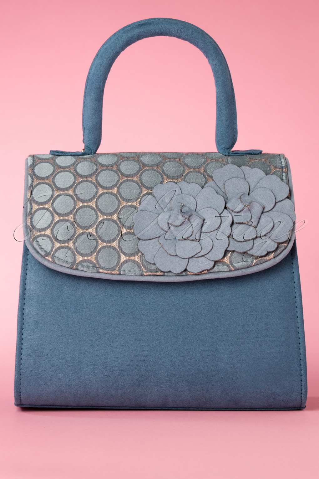 1950s Fashion History: Women's Clothing 50s Tortola Handbag in Blue £49.16 AT vintagedancer.com
