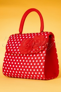 50s Tortola Polkadot Handbag in Red