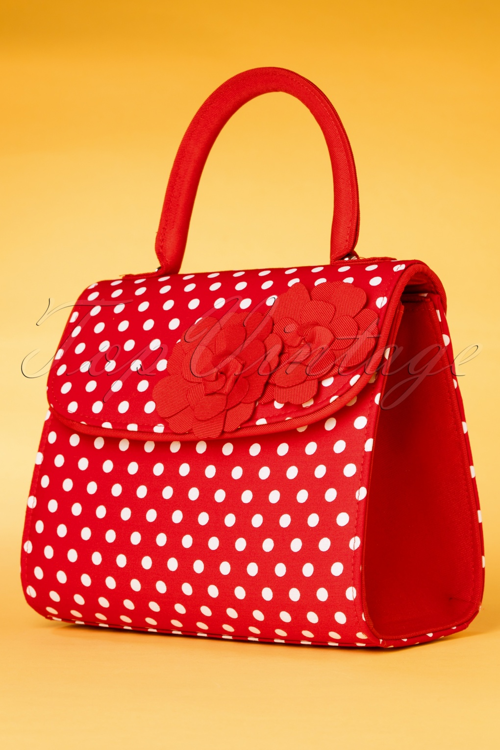 1950s Fashion History: Women's Clothing 50s Tortola Polkadot Handbag in Red £49.16 AT vintagedancer.com