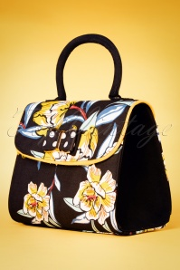 Ruby Shoo 26742 Handbag Muscat Black Floral 20190129 010W