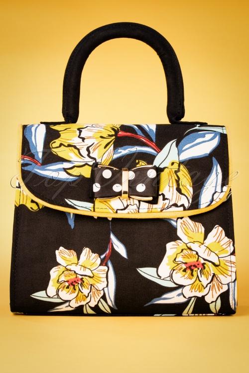 Ruby Shoo 26742 Handbag Muscat Black Floral 20190129 008W