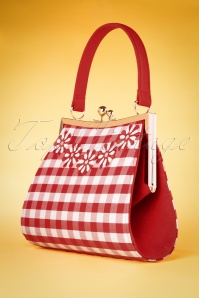 Ruby Shoo 26743 Handbag Checked Red White 20190129 016W