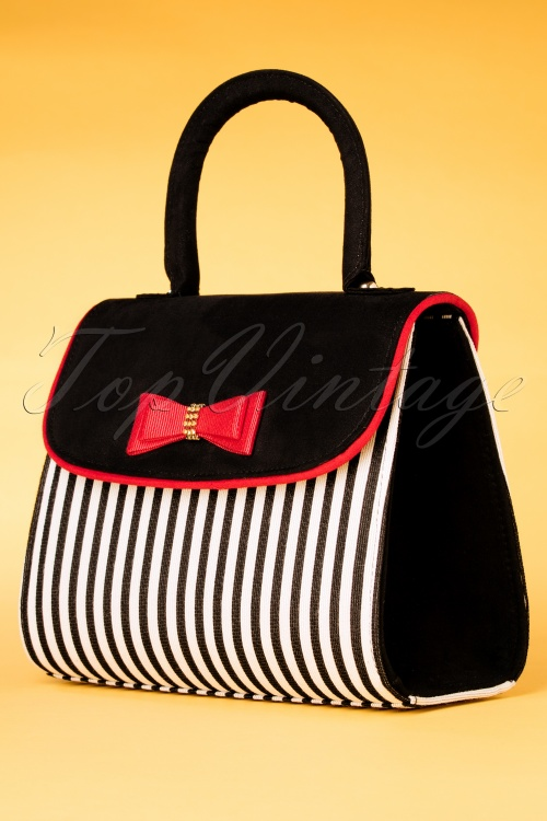 Ruby Shoo 26741 Handbag Banjul Black Red 20190129 004W