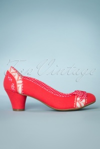 60s Hayley Pumps in Coral
