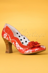 40s Viola Pumps in Coral
