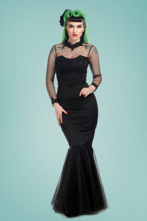 Collectif Clothing 25984 Lucrezia Occasion Fishtail Dress 20190205 021