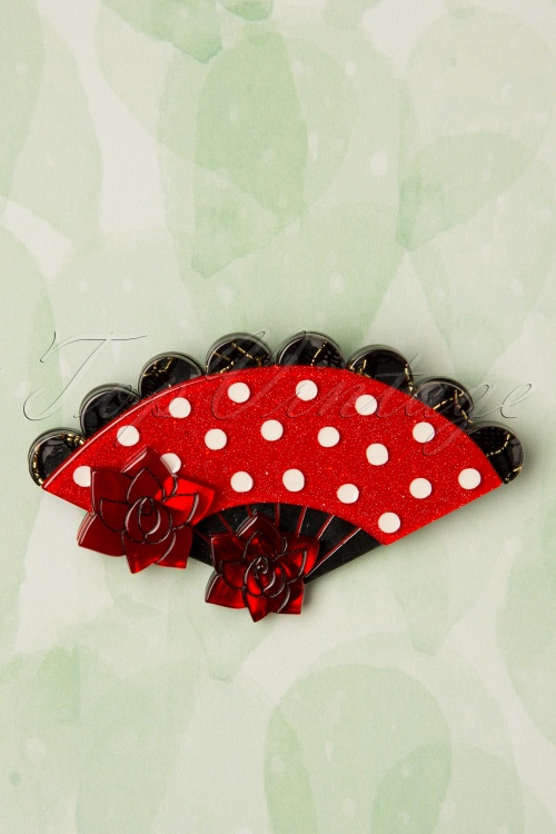 Ernst Wilder 29210 Pretty Red Polkadot Perico Fan Spanish 20190206 011