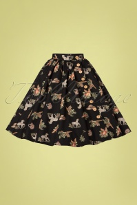 Bunny 28836 Messina 50's Black Swing Skirt 20190205 003W