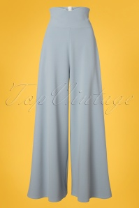 Belsira 40s Marlene Trousers in Dusty Blue