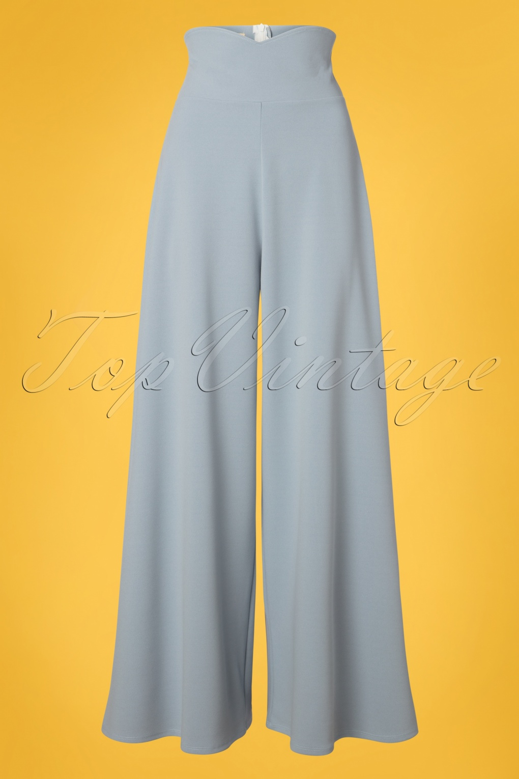 1950s Fashion History: Women's Clothing 40s Marlene Trousers in Dusty Blue £41.95 AT vintagedancer.com