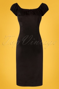 Collectif Clothing 27408 Lorena Plain Pencil Dress in Black 20180815 001W