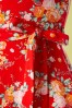 Topvintage Boutique Collection 29074 Red Floral Dress Swing Dress 20190206 006W