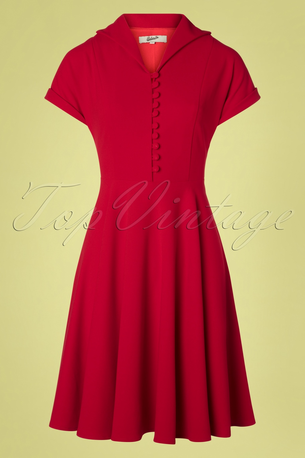 1950s Fashion History: Women's Clothing 40s Valencia Swing Dress in Deep Red £72.32 AT vintagedancer.com