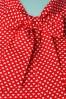 Retrolicious 29026 Heart Dot Red White Blouse 20190206 003W