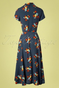 Emily and Fin 27700 Adele Shirt Dress Blue flower 20190206 002W