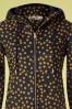 Danafae 26684 Line Softshell Polkadot Yellow Blue Raincoat Coat 20190206 003V