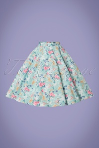 Bunny 28835 Sakura 50s Swing Skirt in Blue 20190205 003W