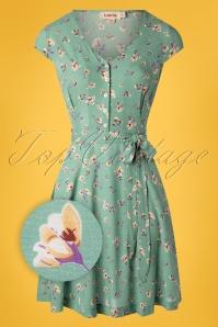 40s Cathleen Freesia Tea Dress in Mint Green