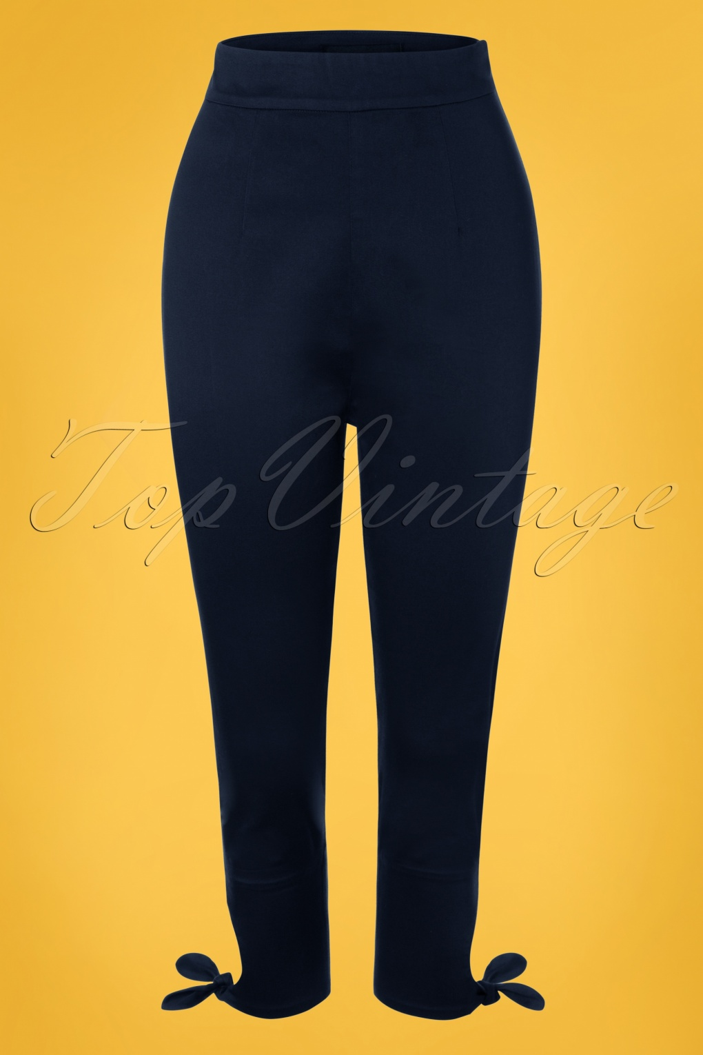 1950s Fashion History: Women's Clothing 50s Anna Capris in Navy £37.45 AT vintagedancer.com