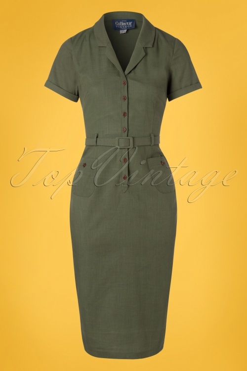 Collectif Clothing 27438 Caterina Vintage Pencil Dress 20180815 002W