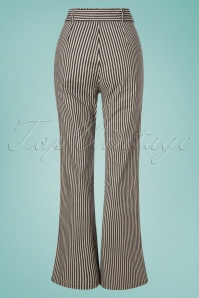 Collectif Clothing 27450 Bella Striped Trousers in Black and White 20180816 005W
